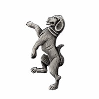 Tyler And Tyler Heraldic Dog Lapel Pin Silver
