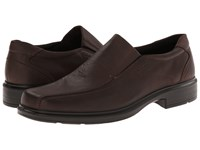 Ecco Helsinki Slip On Coffee White Mist Men's Slip On Dress Shoes Brown