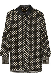 Belstaff Polka Dot Silk Top Blue
