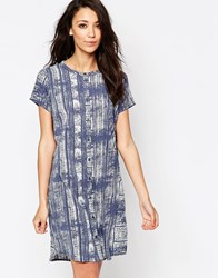 Jdy Printed Shirt Dress Messe Blue