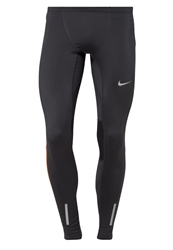 Nike Performance Tech Tights Anthracite Total Orange Reflective Silver