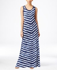 Styleandco. Style And Co. Petite Sleeveless Striped Maxi Dress Only At Macy's Shibori Stripe