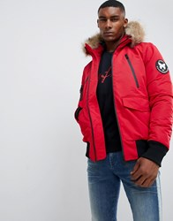 Good For Nothing Parka Jacket In Red