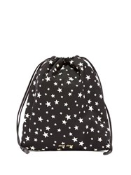 Miu Miu Star Print Drawstring Make Up Bag Black Multi