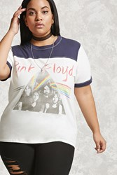 Forever 21 Plus Size Pink Floyd Band Tee White Red