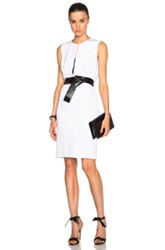 Kaufman Franco Kaufmanfranco 4 Ply Crepe Belted Dress In White