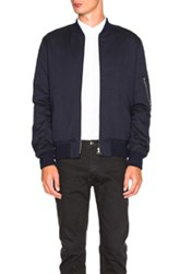 A.P.C. Ma1 Bomber Jacket In Blue