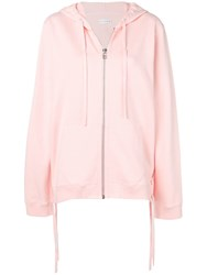 Faith Connexion Printed Back Zipped Hoodie Pink