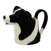 Quail Ceramics Border Collie Jug Black And White