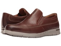 Clarks Un.Byner Easy Dark Brown Leather Men's Slip On Shoes