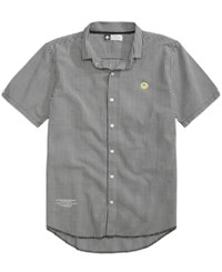 Lrg Men's Freddy Poplin Check Shirt Black