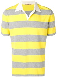 Nuur Striped Polo Shirt White