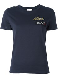 Red Valentino 'Love' T Shirt Blue