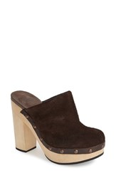 Women's Woolrich 'Journalist' Platform Mule Clog Chocolate