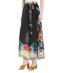 Johnny Was Peonies Wrapped Printed Pants Plus Size Multi