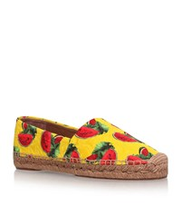 Dolce And Gabbana Ananas Espadrilles Female Yellow