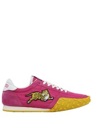 Kenzo Tiger Embroidered Nylon And Suede Sneakers