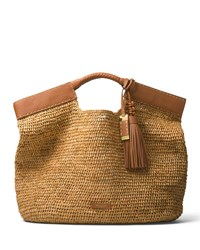 Michael Kors Xl Market Raffia Tote Bag Light Brown