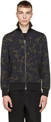 Y 3 Blue And Green Camo Track Jacket