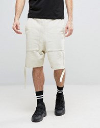 Granted Sweat Shorts With Straps Cream Blue
