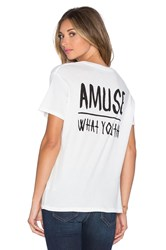 Amuse Society Wy Glimpse Tee White