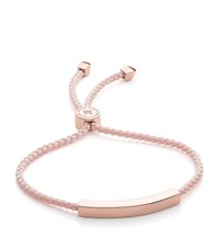 Monica Vinader Linear Friendship Bracelet Female Ballet Pink