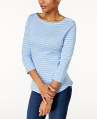Charter Club Striped Boat Neck Top Only At Macy's Rain Combo