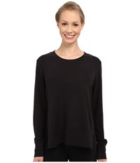 Alo Yoga Glimpse Long Sleeve Top Black Women's Clothing
