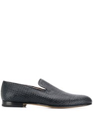 Brioni Woven Effect Loafers Blue