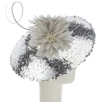 Snoxells Cora Sequin Disc Occasion Hat Silver