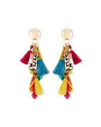 Akola Tassel Statement Earrings Multi
