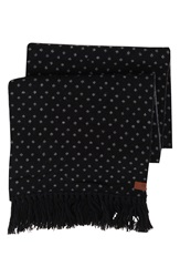 Ben Sherman Micro Dot Knit Scarf Jet Black
