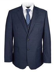 Paul Costelloe Modern Fit Navy Royal Plain Suit Jacket