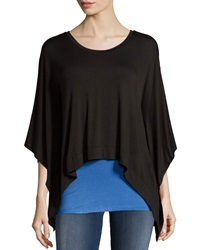 Chelsea And Theodore Tunic With Attached Tank Black Blue