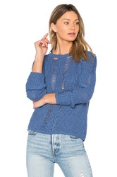 Central Park West Carmel Crop Sweater Blue