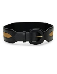 Lauren Ralph Lauren Faux Leather Stretch Belt Black