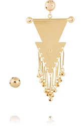 Paula Mendoza Musketeers Gold Plated Earrings