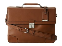 Tumi Astor Dorilton Slim Flap Leather Brief Umber Briefcase Bags Brown