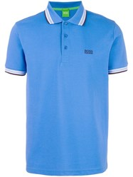 Hugo Boss Contrast Trim Polo Shirt Blue