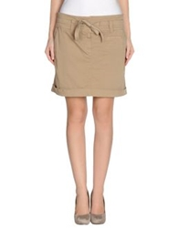 Henry Cotton's Mini Skirts Khaki