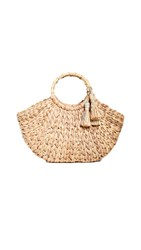 Hat Attack Bamboo Handle Bag Natural