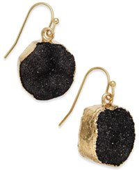 Inc International Concepts Gold Tone Druzy Crystal Earrings Only At Macy's Black