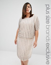 Truly You Embellished Boxy Top Co Ord Grey