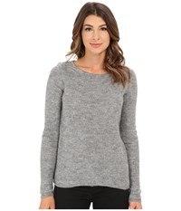 Mavi Jeans Basic Round Neck Sweater Grey Melange Women's Sweater Gray