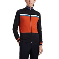 Paul Smith Colorblocked Wool Zip Front Cardigan Charcoal