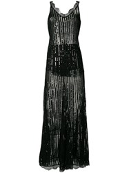 Amen Sequin Embellished Dress Black