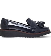 Carvela Limbo Patent Leather Flatform Loafers Navy