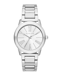 Michael Michael Kors 38Mm Bracelet Watch W Mixed Time Markers Silver