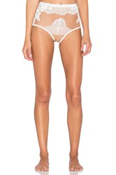 For Love And Lemons Flower Blossom Hi Waist Panty White