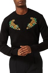 Topman Men's Tiger Embroidered Sweater